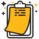 clipboard, report, notes, document, list