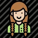 avatar, beautician, female, girl, waman icon