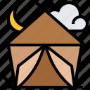 adventure, campfire, camping, tent, tourism