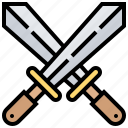 blade, knight, military, sword, weapon icon