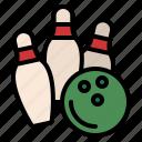 bowling, hobby, skittles, sport
