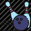 bowling, sport, strike, pin, hobby