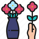 flower, arranging, bouquet, floral, hobby