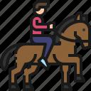 horseback, riding, horse, sport, hobby
