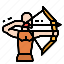 archer, archery, arrow, bow, weapon