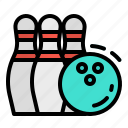 bowling, fun, game, pins icon