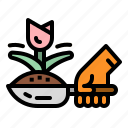 ecology, gardening, growth, plan icon