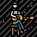 folk, guitar, music, musician, orchestra icon