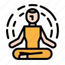exercise, meditation, relaxing, yoga icon