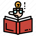 book, learning, reading, student, study icon