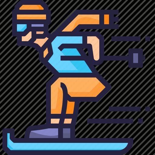 activity, outdoor, skiing, sport icon
