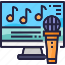 activity, karaoke, music, sing icon