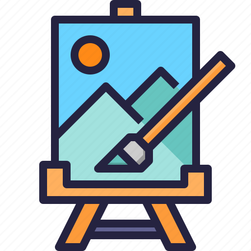 art, design, paint, painting icon