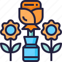 flower, outdoor, vase icon