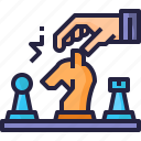 business, chess, planning, strategy icon