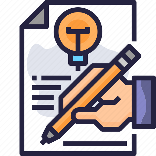 content, creative, design, idea, writing icon