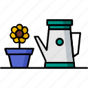 filled, gardening, hobby, water, waterfall icon