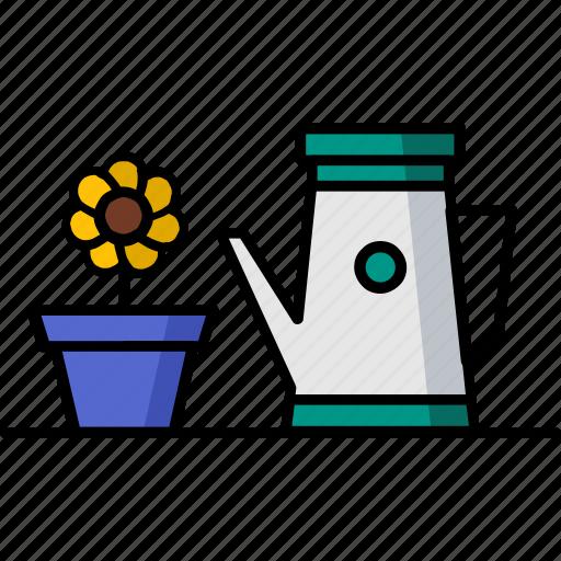 filled, gardening, hobby, water, waterfall icon