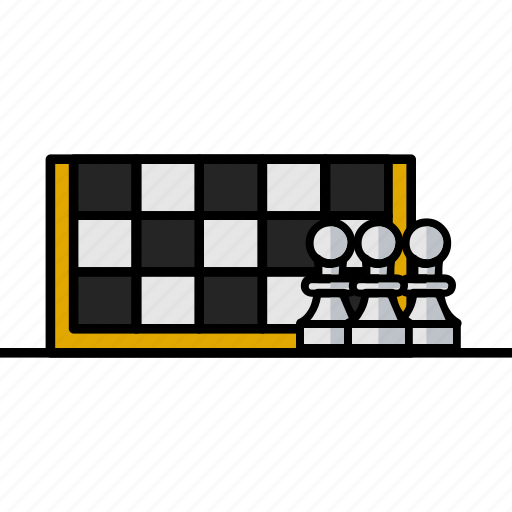 chess, filled, hobby, horse, sport, strategy icon