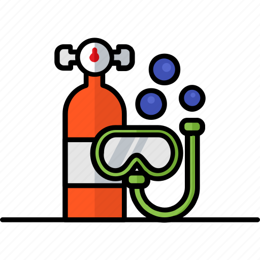 diving, eye, filled, glasses, goggles, hobby icon