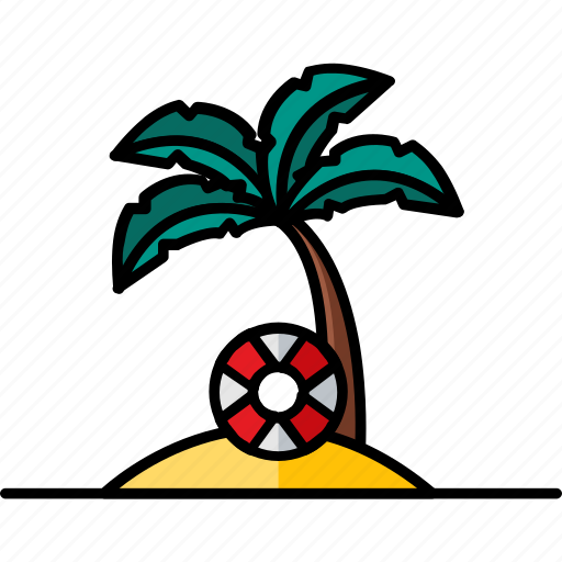 beach, filled, hobby, summer, tourism, vacation icon