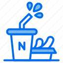 drink, food, ice, meat, sausage icon