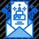 birthday, cake, envelope, invivtation, letter, party icon