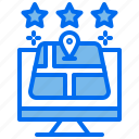 best, computer, gps, hotel, location, map, star icon