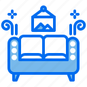 couch, furniture, hotel, lounge, sofa icon
