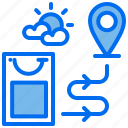 bag, delivery, location, order, shipping icon