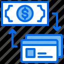 convert, creditcard, money, payment, transaction icon
