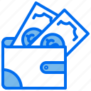 money, payment, pocket, purse, wallet icon