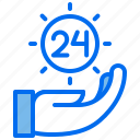 commerce, fullday, hand, open, service, support icon