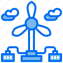 battery, city, energy, power, renewable, turbine, wind icon