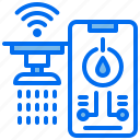city, control, phone, water, wifi, wireless icon