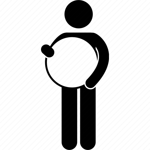 banner, empty, man, people, person, round, showing icon