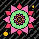 india, pattern, rangoli icon