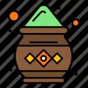 color, india, pot, powder