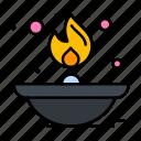 fire, flame, lamp, light, oil
