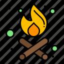 bonfire, fire, party, time