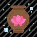 decoration, lotus, pot