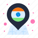 country, flag, india, location