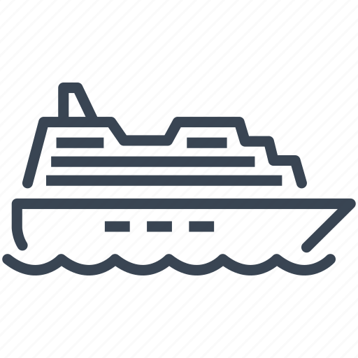 Boat, cruise, ferry, ship icon - Download on Iconfinder