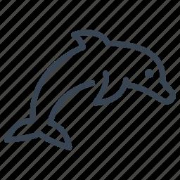 animal, dolphin, ocean, sea icon