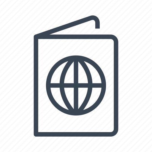 id, passport, travel icon
