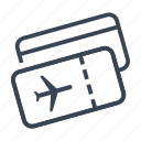 boarding, pass, plane, ticket icon