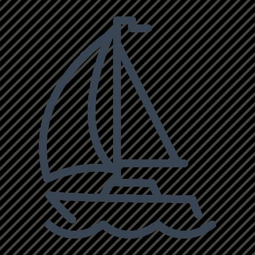 boat, sail, sailboat, sailing icon
