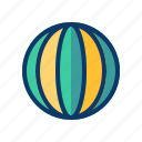 ball, holiday, party, travel, vacation icon