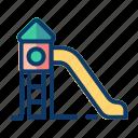 child, holiday, kid, slides