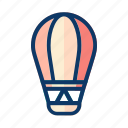 balloon, flying, holiday, party, travel, vacation icon